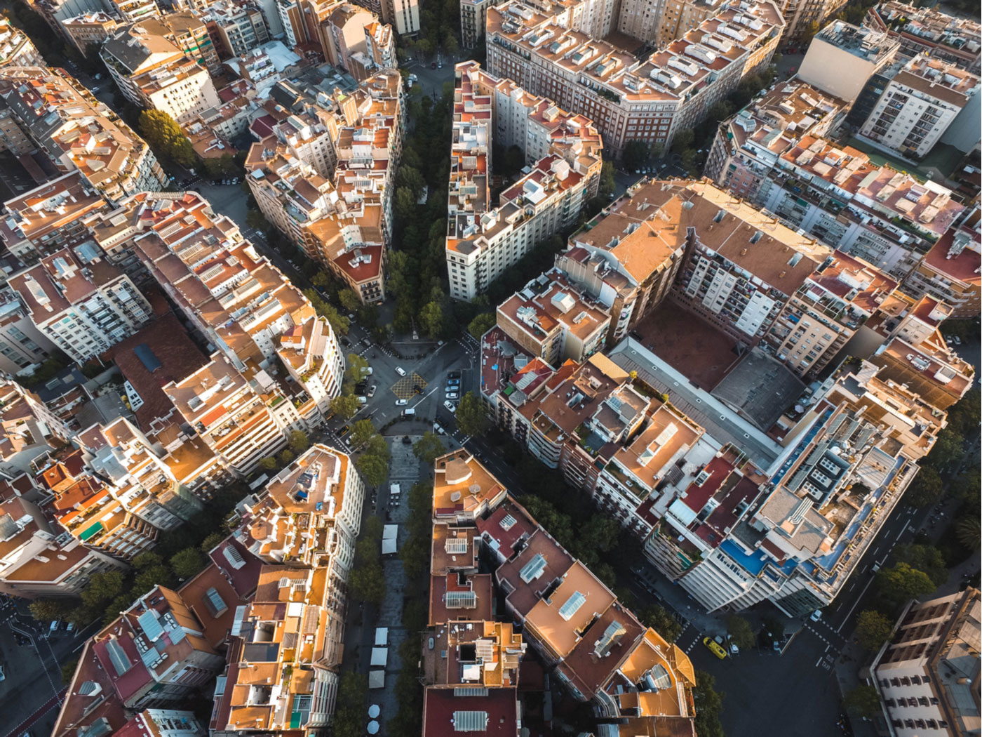 City Grid der Stadt Barcelona
